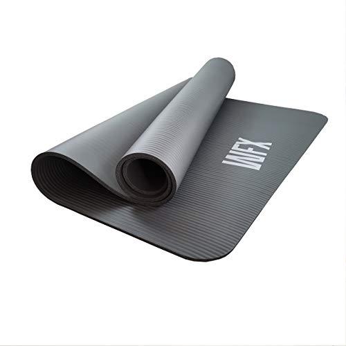 World Fitness - Fitnessmatte Yogamatte XXL »Ashanti« - 190 x 100 x 1 cm - rutschfest & robust - Gymnastikmatte ideal für Yoga, Pilates, Workout, Outdoor, Gym & Home - Grau