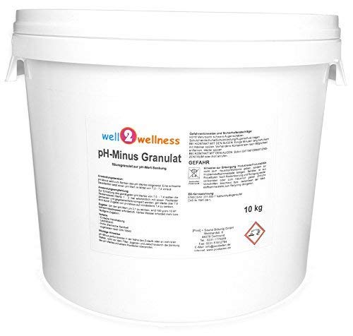 well2wellness pH Minus Granulat pH Senker Granulat für Pool + Spa 10 kg