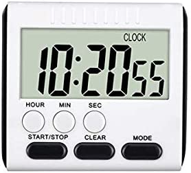 24 Hours Magnetic Kitchen Timers with Digital Alarm Clock Timer Big Screen Loud Alarm Strong product image