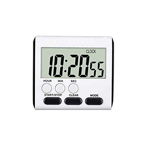 24 Hours Magnetic Kitchen Timers with Digital Alarm Clock Timer, Big Screen Loud Alarm & Strong Magnet, Count-Up & Count Down for Kitchen Baking Sports Games Office Study (Black)