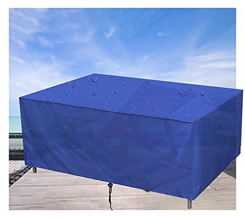 Gartenmöbel Abdeckung,Rechteckig wasserdichte Schutzhülle, für Gartentisch Sitzgruppe Gartenlounge (210D Oxford Gewebe,115x115x74cm,Blau)