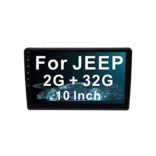 Android 8.1 Auto Estéreo Navegacion GPS Cabeza Unidad Patio Centro 10,1 Pulgadas Tocar Pantalla Multimedia Jugador con SWC Bluetooth, Video Receptor para J E E P Wrangler/Compass/Commander