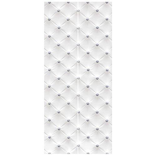 Bilderwelten Vliestapete Tür - Diamant Weiß Luxus - Türtapete Fototapete Türdeko Motivtapete Wanddesign Designtapete Größe HxB: 215cm x 96cm
