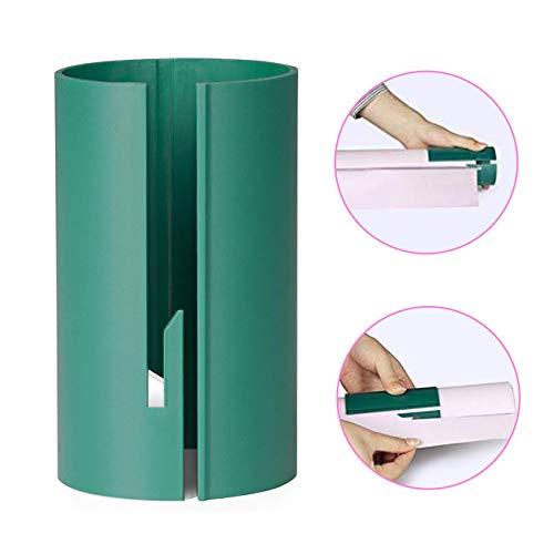 Aitsite Geschenkpapier Schneider, Packpapier Schneidewerkzeug Schiebe Geschenkpapier Cutter Clips Schneider Werkzeug Schneidewerkzeuge (Grün)