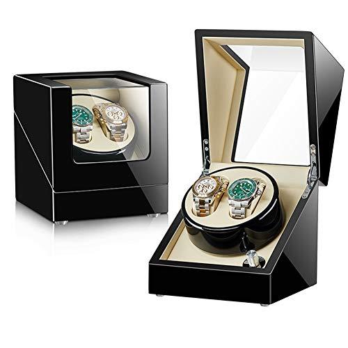 ZNND Watch Caja De Enrollador De Reloj Watch Winder, Caja Giratora 2+0, Caja para Relojes Automáticos, Motor De Calidad Y Silencioso, 5 Modos De Rotación (Color : A)