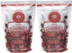 Cherry Bay Orchards - Dried Montmorency Tart Cherries - Pack of Two 16 oz Bags (32oz Total) - 100% Domestic, Natural, Kosher Certified, Gluten-Free, and GMO Free - Packed in a Resealable Pouch