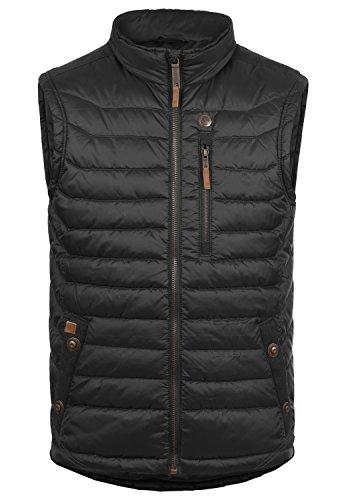 Blend Cemal Herren Weste Steppweste Outdoor Weste Mit Stehkragen, Größe:XL, Farbe:Black (70155)