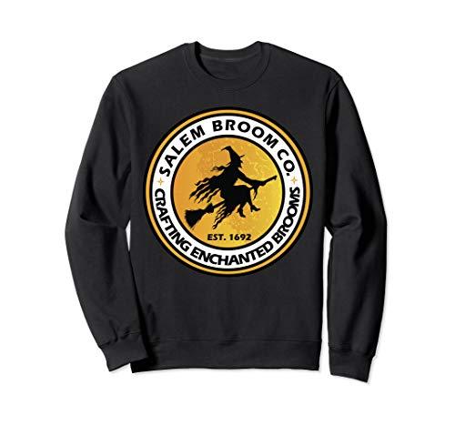Hexe auf Besen Salem Verzauberte Besen Geschenk Sweatshirt