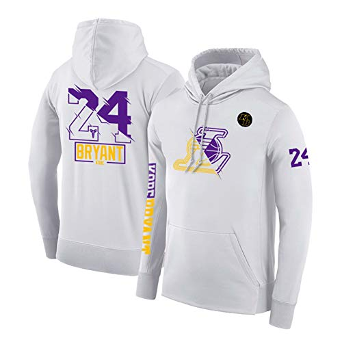 Sudadera con Capucha de Baloncesto Unisex, Kobe Bryant 24# suéter con Capucha Ocasional Suelta, es el Regalo de cumpleaños S-3XL (Color : D, Size : M)