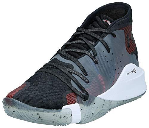 Under Armour Men's Spawn Mid Basketball Shoe, Black (006)/White, 9.5