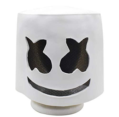 Z&X Latex Cotton Candy Maske für Halloween, Electronic Sound Festival Marshmallow DJ Maske für Halloweenkostüm Party und Maskerade