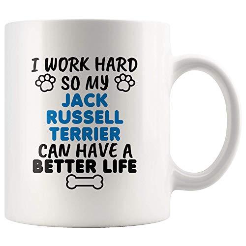 N\A Divertido Jack Russell Terrier Regalos Taza Taza de café Mamá Papá Amante de los Perros Propietario Presente S-60Q