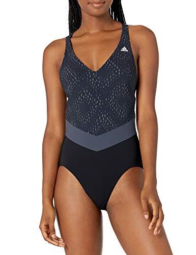 adidas Primeblue - Bañador para Mujer, Bañador Primeblue, Mujer, Color Negro/Naranja Verdadero, tamaño 34'A