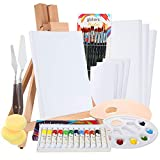 Complete Acrylic Paint Set by Glokers – 36 Piece Professional...