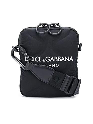 Moda De Lujo | Dolce E Gabbana Hombre BM1848AW14089690 Negro Poliéster Bolso Messenger | Temporada Outlet