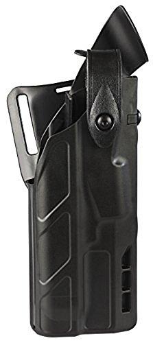 Safariland 7360 7TS ALS/SLS Level-III Duty Glock 17 22 with ITI M3 Light Holster, Plain Black, Left