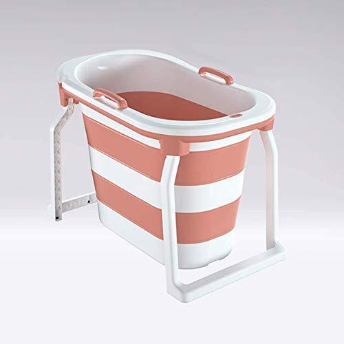 YJHH Freestanding Bathtub, Portable Folding Bath, Non-slip Durable Bucket Bathroom Hot Tub Bath Tub Hot Tubs For Adult Long Insulation Time 103x76.5x65cm