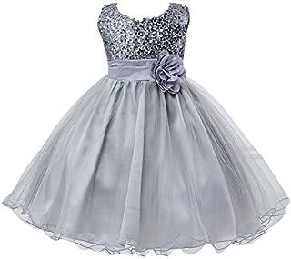 cc7c274c99d88 Livraison GRATUITE par Amazon. NiSeng Robe Cérémonie Fille Enfant Princesse  Mariage Soirée Princesse Robes Demoiselle D Honneur Sequins Robe