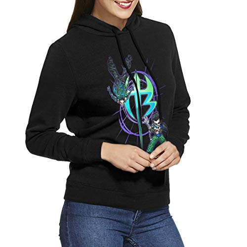 Hidreama Jeff Hardy Logo Women's Pullover Hoodie Casual Sweatshirts Black