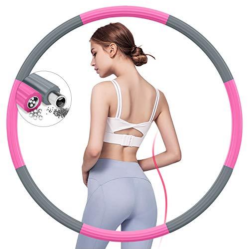 Biaoqinbo - Neumáticos de fitness para adultos, de espuma de acero inoxidable, 8 segmentos extraíbles, 1,2 kg y 1,5 kg de peso ajustable, para hacer deporte en casa o en la oficina