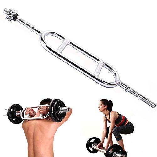 Nisorpa トライセプスバー スクリュー式 上腕三頭筋 バーベル ダンベル 筋トレーニング器具 バーベルシャフト 86cm 固体鋼 腕力 筋力増強 耐荷重 バーベル・フィットネスバー 標準装備