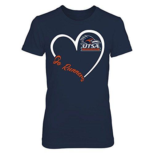 FanPrint UTSA Roadrunners T-Shirt - Heart 3/4 - Women