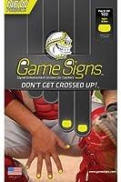 野球/ソフトボールキャッチャー爪明るい色付きゲームサインステッカー、信号明確Pitchers ( 3色、100ステッカー/パック)