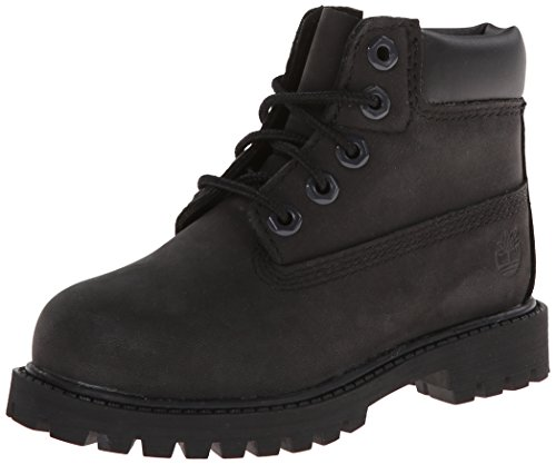 Timberland Kids' 6' Premium Waterproof-K, Black Nubuck, 6.5 M US Big Kid