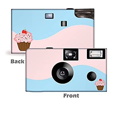 5Cupcake Custom Disposable Cameras, Can be Personalized, Single Use, Pink & Blue from CustomCameraCollection