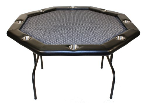 Texas Holdem Poker Table w/ Stainless Cup Holders, Suited Speed Cloth, with Folding Table Legs 48'x48'x30'high - Platinum