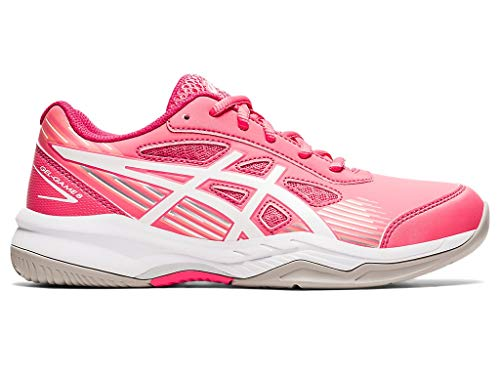 ASICS Kid's Gel-Game 8 GS Tennis Shoes, 4, Pink Cameo/White