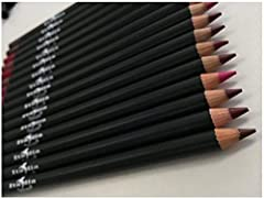 Italia Deluxe Ultra Fine Pencil Lip Liner Set of 12 Different Colors Assorted Colors Smooth and creamy application Net Wt 0.08oz / each lipliner