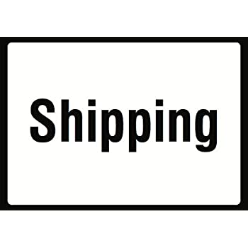 12x18 Shipping Sign Plastic 6 Pack Large Warehouse Area Package Delivery Signs