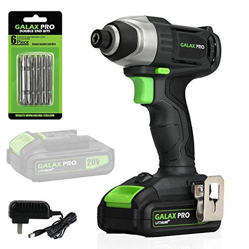 GALAX PRO 20 V Lithium Ion 1/4' Hex Cordless Impact...