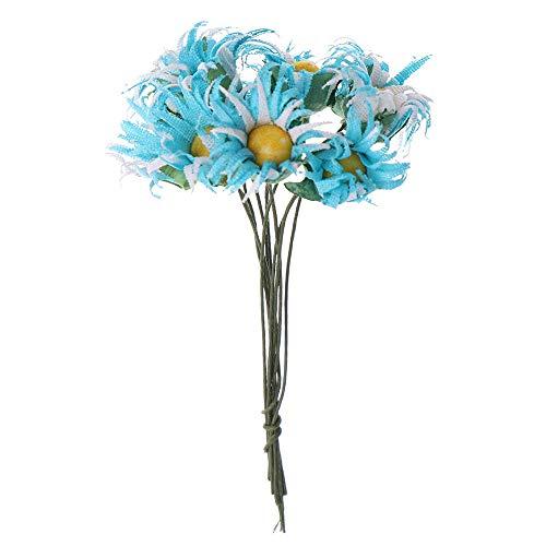 Zyf 10 stuks droogbloem DIY Epoxy handgemaakte materialen vulstof gedroogde bloemen stenen sieraden productie hars ambachtelijk bureau decor-blauw