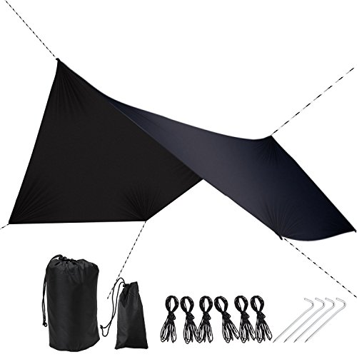 DUTY STRONG Rain Fly Tarp Waterproof Tarp Camping Shelter Canopy – Lightweight Easy Setup for Hammock or Tent Camp Gear, Hammock Rain Fly – Tent Tarp for Camping