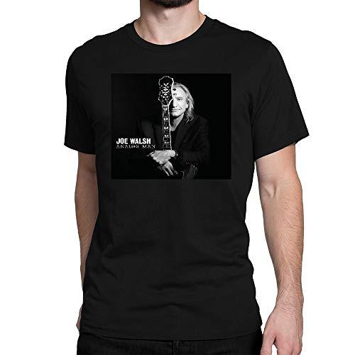 SHIQINQ Herren Joe Walsh Analog Man Summer Short Sleeve High Low Loose T Shirt Basic Tees Tops X-Large