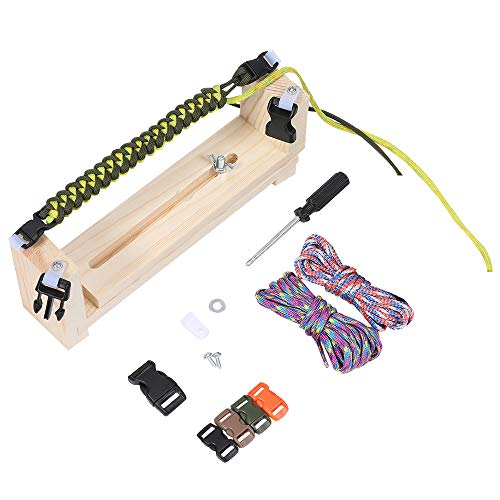 Jig Bracelet Maker with Parachute Cord, Wristband Maker - 2 Parachute Cords and a Pack of Accessories -paracords Braiding Weaving DIY Craft Tool Kit - Heavy Duty Buckles
