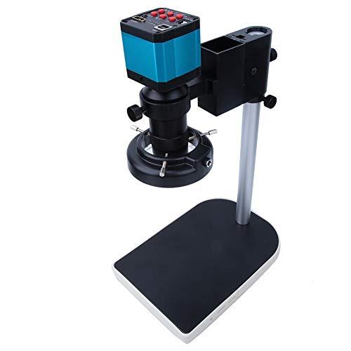 HDMI Mikroskop, 14 Millionen Pixel LED Digitalmikroskop USB Industriemikroskop Kamera Set 1080P HD Mikroskop Kamera Zoom Mikroskop 100-240V, Fernbedienungsset(EU)