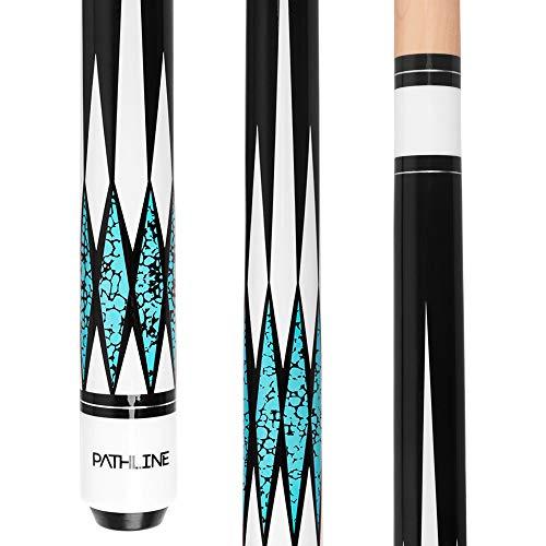 Pathline Pool Cue Stick - 58 inch Canadian Maple Professional Billiard Pool Stick (4 Colors, 18oz, 19oz, 20oz, 21oz) (A Blue 21oz)