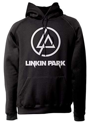 LaMAGLIERIA Unisex-Hoodie Linkin Park - Classic Logo White Print - Kapuzenpullover Rock Band, M, schwarz