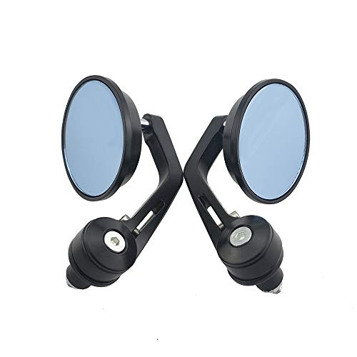 Without brand WSF-Rearview Mirrors, 2pcs 7/8' Handle BAR END Mirrors for Bobber Chopper Cafe Racer Buell