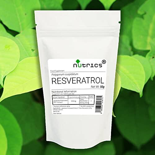 Nutrics 50% Trans RESVERATROL Japanese Knotweed Extract 200g Powder No Additives