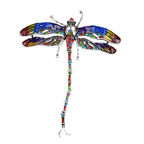 GLKHM Brooches & Pins Enamel Dragonfly Brooches Women Coat Pin Insect Accessories