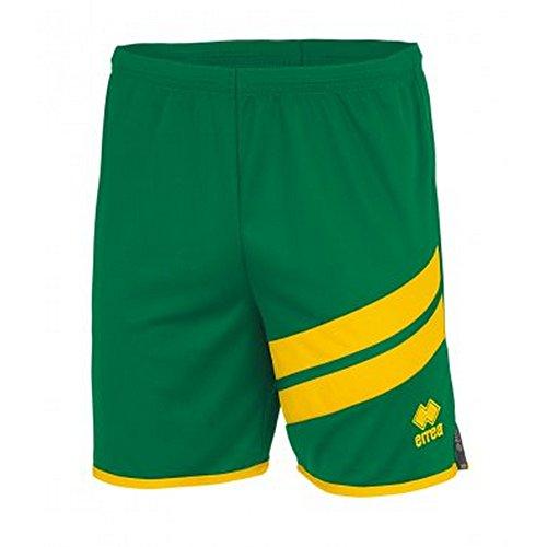 Errea - Jaro - Pantaloncini Corti Sportivi - Uomo (S) (Verde/Giallo)