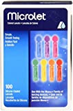 Microlet Bayer Colored Lancets, 100 Count (Pack of 2)
