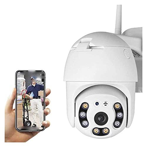 SFLRW Cámaras de seguridad, cámaras WIFI para el sistema de seguridad para el hogar 360 ° Ver Tilt Tilt Cámara de seguridad al aire libre con color Visión nocturna Detección de movimiento de audio de