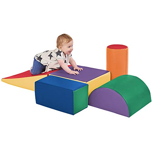 ECR4Kids - ELR-12683 SoftZone Climb and Crawl Activity Play Set, Lightweight Foam Shapes for...