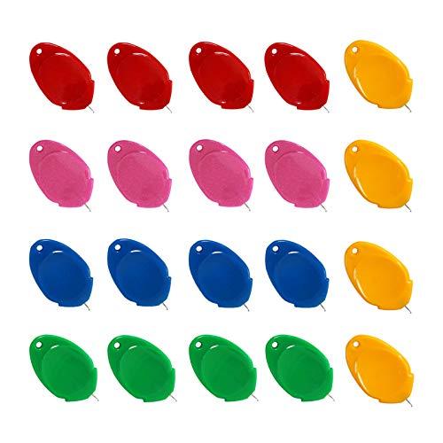 20 PCS Enhebrador de Aguja de Plástico,enhebrador de agujas para coser a mano,Herramienta de coser manual de bricolaje para manualidades,Enhebrador de máquina de coser, 5 colores