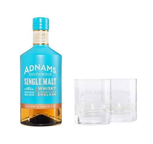 Adnams Whisky Single Malt + 2 Glas  40% - 700 ml*
